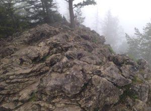 skaly za mgłą