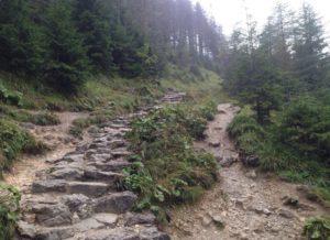 szlak w gorach po kamieniach